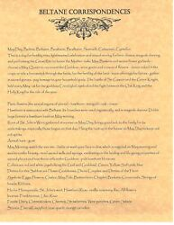 Book Of Shadows Spell Pages Beltane Correspondences Wicca Witchcraft Bos