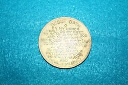 Vintage Boy Scouts Of America Bsa Scout Oath And Law Coin