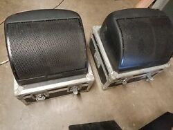 Pair Of Community M12 Monitors With Road Cases - Used