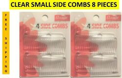 CLEAR SMALL SIDE HAIR COMBS FASHION PIN 8 PIECES HAIRPIN FREE SHIPPING $11.29