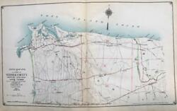 1917 Brookhaven Suffolk County Long Island New York Index Page Atlas Map