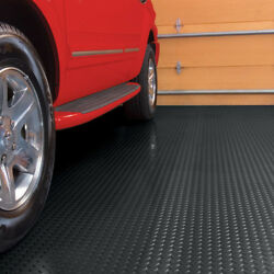 Basement Black Flooring Vinyl Floor Protector Workshop Garage Utility 127.5 sqft