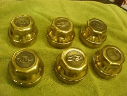 Brass 1923 Chevrolet And Superior Bow Tie Hub Caps Teen's 1920's 1921 1923