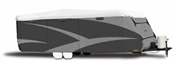Adco 34844 Designer Series Gray/white 26and039 1 - 28and039 6 Dupont Tyvek Travel Cover