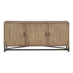 68 W John Sideboard One Of A Kind Reclaimed Solid Pine Metal Base Transitional