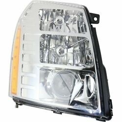 Headlight For 2009-2013 Cadillac Escalade EXT Right Clear Lens HID With Bulb
