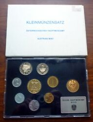 1985 Austria - Official Proof Set 8 With Vienna Mint Token - Beauty - Rare