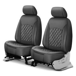 For Acura RDX 18-19 Leatherette Double Cap 1st Row Charcoal Seat Covers