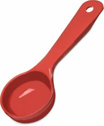 NEW Carlisle 492405 Solid Short Handle Portion Control Spoon 2 oz Red TAXFREE