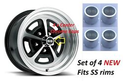 Chevelle Ss Rims Centers Chrome Center Wheel With Ss Logo 69-70 Set Of 4 New