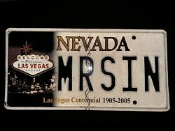 MRSIN MR SIN Nevada Las Vegas Vanity License Plate