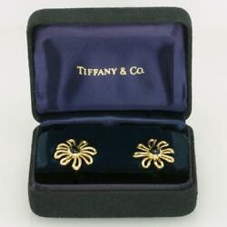 Paloma Picasso 18ct Gold And Co. Onyx Daisy Blume Selten Vintage Ohrringe