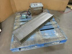 No Name 38-1/2 X 9-3/4 Fine Pole Magnetic Chuck W/ Rectifier And Controller