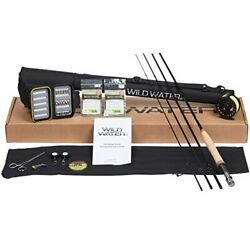 Deluxe Fly Fishing Package w Large Arbor Design Reel Fly Box & a rod case Etc