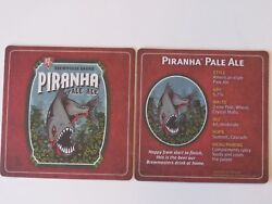 Beer Coaster Bjs Brewhouse Piranha American Pale Ale National Brewery Chain