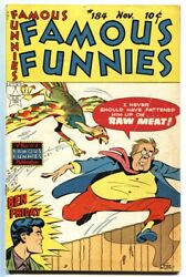 Famous Funnies 184 1949-buck Rogers-scorchy Smith-steve Roper-bobby Sox