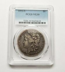 1893-S Morgan Silver Dollar PCGS VG-10 KEY DATE Certified Rare Coin