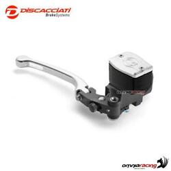 Radial Brake Master Cylinder Discacciati 19mm With Tank Silver Lever Blue Cap 1