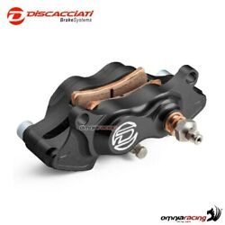 Rear brake caliper kit with bracket Discacciati black color for Yamaha MT01