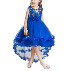 Flower Kids Girls Dresses For Wedding Bridesmaid Pageant Party Formal Dress Gown