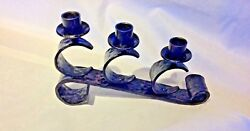 Antique Wrought Iron Candle Holder, Mission, Spanish Mission Item 02194b
