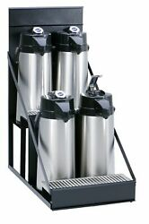 Wilbur Curtis  4 Position Airpot Rack - Compact Design with Integral Drip Tray -