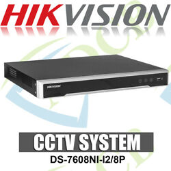 Hikvision Ds-7608ni-i2/8p 4k 8 Channel Network Video Recorder 12mp W/ 8 Poe