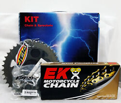 Pbr / Ek Chain And Sprockets Kit 520 Pitch For Ducati Monster 1100 Evo 2011