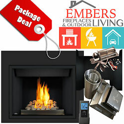 NAPOLEON HD40 GAS FIREPLACE ROCK BURNER PANELS REMOTE DIRECT VENT KIT BLOWER