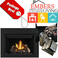 NAPOLEON HD46 LOG BIG GAS HUGE FIREPLACE PANELS VENTING KIT DIRECT VENT BLOWER