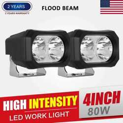 2x 9inch 450w Round Driving Lights Cree Led Spot Black New Headlight Offroad Ute