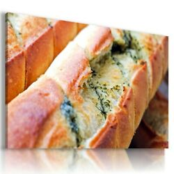 Baguette Butter Garlic Food Kitchen Canvas Wall Art Picture F77 Unframed-rolled