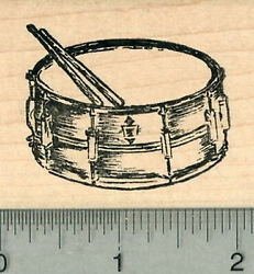 Snare Drum Rubber Stamp Percussion Musical Instrument Series H34203 Wm