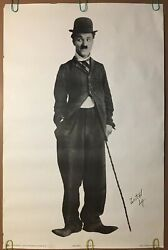 Original Vintage Poster 1977 Charlie Chaplin Retro Black & White Pin-up 70s