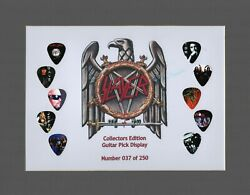 Slayer Matted Picture Guitar Pick Set Limited Number May Vary Limited Kerry King