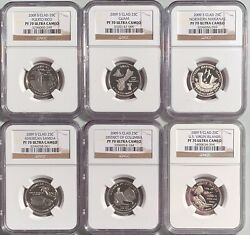 2009-s Clad Proof Dc And Us Territories 6 Coin Set Ngc Pf-70 Ultra Cameo