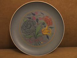 50and039s Vintage Poole Pottery Elaborate Hand Painted Plate Dish Excellent Condition