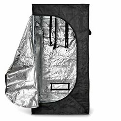 2 Double-vented Reflective Mylar Hydroponics Cabinet Room w Large Zippered Door