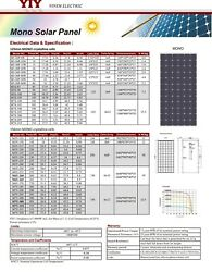 YIY太阳能板mono solar panel 125156MM MONO CRYSTALLINE CELLS 6~210W 125~320W CE IEC