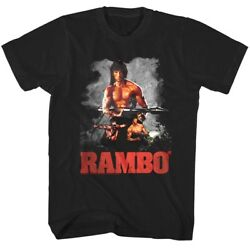 Rambo Rocket Launcher T Shirt First Blood Part 2 M72 Law No Man No Law Tee