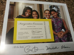 Obama Jan 21 2013 Presidential Inauguration Ceremony Official Yellow Ticket