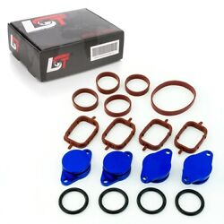 32mm BLUE ALUMINIUM SWIRL FLAP REPLACEMENT SET +O-RING FOR BMW 6 SERIES 7