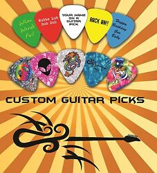 100 Guitar Picks Plectrums Printed Double Sided Picks