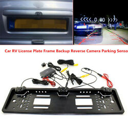 Car Rv License Plate Frame Backup Reverse Ccd Front View Camera Parking Sensors