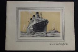 Cunard Line Rms Berengaria Rare Deluxe Photo Interior 24pg Book C-1920and039s