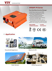 YIY逆变器6.0KW HP&HP-PV SERIES PURE SINE WAVE INVERTER CHARGER AC&DC EXCHANGE