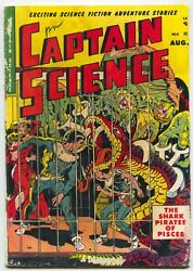 Captain Science 5 1951- Wally Wood- Great Sci-fi Monster Cover