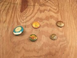 Lot Of 5 Vintage Teamsters And Employees Union Pins