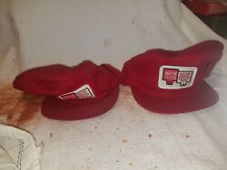 2 Vintage Wayne Feeds Cap - 1980's - Ear Flaps Fleece Winter