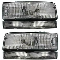 Halogen Headlight Set For 1992-1993 Buick Lesabre Left And Right W/ Bulbs Pair